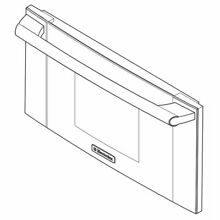 Frigidaire 5304503733 Wall Oven Microwave Door Outer Panel Assembly  Stainless