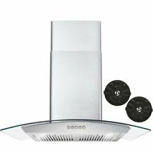 Cosmo 30  380 CFM Ductless Wall Mount Range Hood in Stainless Steel