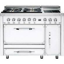 Viking TVDR4814IAW Tuscany 48  Dual Fuel Convection Oven Range  Antique White
