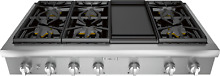 NEW  Thermador PCG486WD Pro 48  Gas Rangetop w  Griddle  Stainless Steel   NEW