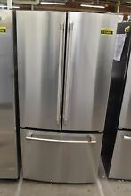 GE Cafe CWE19SP2NS1 33  Stainless Steel CD French Door Refrigerator NOB  113489