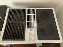 Jenn Air JED8230ADW 30 in  White Electric Cooktop Glass Griddle Grill Downdraft