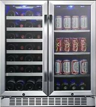 EdgeStar CWB2886FD 30 Inch Built In Wine and Beverage Cooler with French Doors