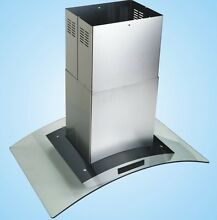 New Europe Style 42  Stainless Steel Glass Island Mount Range Hood