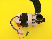 W10222074 USED WHIRLPOOL DISHWASHER WASH MOTOR WITH W10181638 HOSE