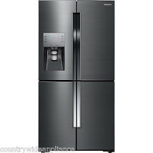 Samsung Black Stainless 23 CF 4 Door French Door Refrigerator RF23J9011SG