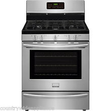 Frigidaire Stainless Steel 30  Gas Convection Freestanding Range FGGF3058RF