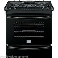 Frigidaire GALLERY Black 30  Convection Gas Slide In Range FGGS3065PB