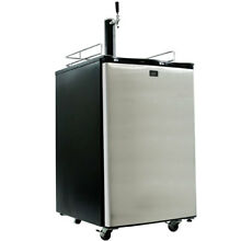 KeggerMeister KM2800SS Kegerator Beer Keg Fridge Brew Dispenser   Kegorator