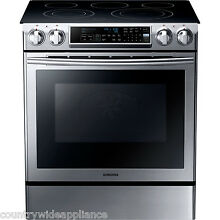 SAMSUNG Stainless Steel Convection 30  Electric Slide in Range NE58F9500SS