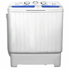 Goplus Portable Mini Compact Twin Tub 17 6lb Washing Machine Washer Spin Spinner