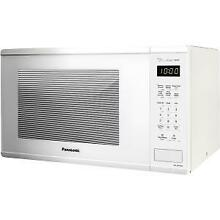 Panasonic 1 3 Cu  Ft  1100W Countertop Microwave Oven   White
