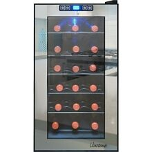 Vinotemp   Eco Series Mirrored 18 Bottle Wine Cooler   Stainless steel