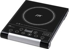 SPT   12 1 4  Portable Electric Cooktop   Black