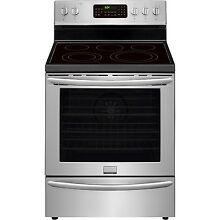 Frigidaire Stainless Steel 30  Electric Convection Freestanding Range FGEF3058RF