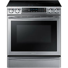 Samsung Stainless Steel 30  Electric Induction Slide In Range NE58K9560WS