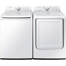 Samsung White Top Load Washer and Gas Dryer Set WA40J3000AW and DV40J3000GW