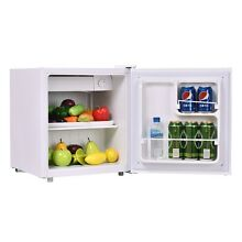 1 7 cu ft  Mini Steel Refrigerator Compact Fridge for Bedroom White Color