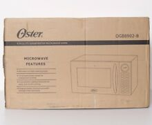 Oster OGB8902 B 0 9 Cubic Foot One Touch Countertop Microwave Oven Black NEW