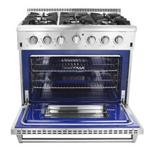 36  Professional Stainless Steel Gas Range with 6 Burners stove burner cooking