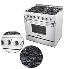 Thor 36  Professional Kitchen Stainless Steel Gas Range with 6 Burners US STOCK