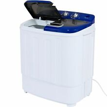Mini Twin Tub Washing Machine Portable Quiet Compact Spin Cycle Hose 13lbs NEW