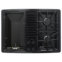 GE Profile PGP990DENBB  Gas Downdraft Cooktop black   left Module