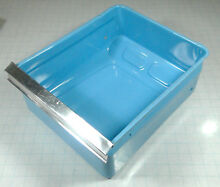 Vintage GE General Electric Refrigerator TB414YC Crisper Bucket BLUE