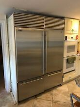 SUB ZERO MODEL 611  2 units  L and R  30  Fridge and Freezer Combos  Stainless