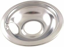 ELECTRIC RANGE DRIP PAN FITS FRIGDAIRE  RANGES  CHROME  6