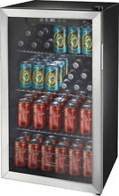 Insignia  115 Can Beverage Cooler   Stainless steel Silver