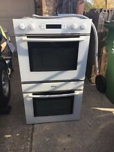White bosch double oven  great shape