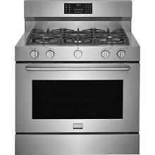 Frigidaire Gallery Stainless Steel 40  Freestanding Dual Fuel Range FGDF4085TS