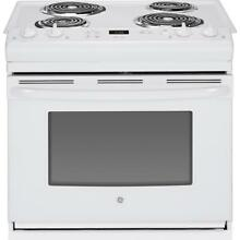 GE Appliances JDS28DFWW 30  Drop In Electric Range   White