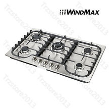 34inch Natural Gas Sealed 5 Burner  Built in Cooktop Stainless Steel