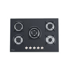 Empava 36    30  Black Tempered Glass Italy Sabaf Burners Stove Top Gas Cooktop