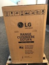 New LG LRG3021ST 30  Freestanding Gas Range 5 4 Cu Ft Glass Door Oven 4 Burner