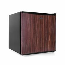 BESTEK 1 6 cu ft Wood Compact Single Reversible Door Refrigerator Freezer Office