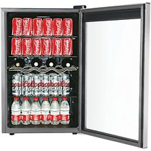 Beverage Refrigerator Mini Wine Fridge Soda Can Drinks Bar Cooler Adjustable