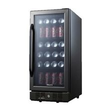 NewAir   96 Can Beverage Cooler   Black stainless steel