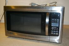 Slightly Used Magic Chef 1 6 cu  ft  Countertop Microwave in Stainless Steel