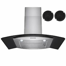 Firebird 30  European Style Wall Mount Stainless Steel Ductless Range Hood Vent