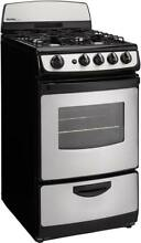 Danby DR201BSSGLP 20  2 4CF Freestanding Gas Range Black with Stainless Steel