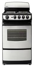 Danby DER201BSS 20  2 4CF Freestanding Electric Range Black with Stainless Steel