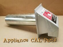 Professional Metal Hood 4  Round Dryer Washer Vent Exhaust  New 433298 328919