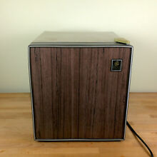 Vintage General Electric 1988 Mini Fridge Model TA2FX beige brown Made in Korea