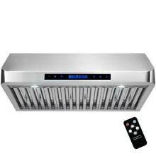 AKDY 30 in  Under Cabinet Range Hood in Stainless Steel with Touch Controls