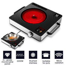 2200W 220V Electric Induction Cooker Cooktop Burner Digital Touch Control Timer