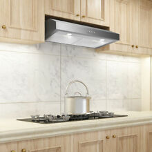 30  Stainless Steel Under Cabinet Kitchen Stove Burner Fan Range Hood LED Lights