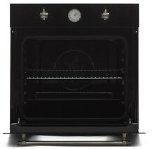 Hyaki 24  Retro Black Tempered Glass Electric Built in Single Wall Oven